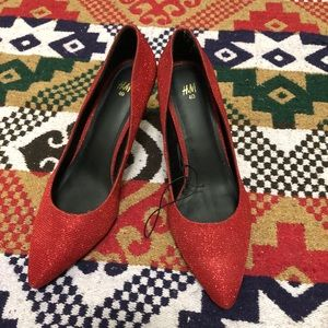 NEW Red Sparkly Shoes! H&M
